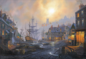 The Old Ship Inn.  Maritime Art by St Ives Artist Donald MacLeod.